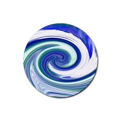 Abstract Waves Drink Coaster (round) by Colorfulart23