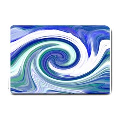 Abstract Waves Small Door Mat by Colorfulart23