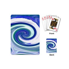 Abstract Waves Playing Cards (mini) by Colorfulart23