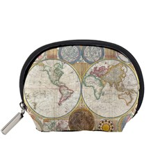 1794 World Map Mini Zipper Pouch