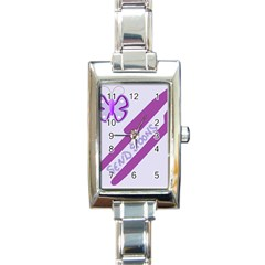 Send Spoons Rectangular Italian Charm Watch by FunWithFibro