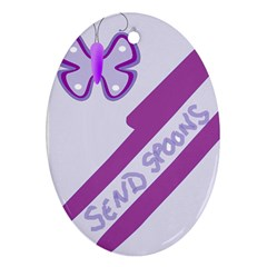 Send Spoons Oval Ornament by FunWithFibro
