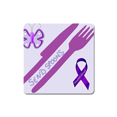 Send Spoons Magnet (square) by FunWithFibro