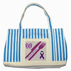Send Spoons Blue Striped Tote Bag by FunWithFibro