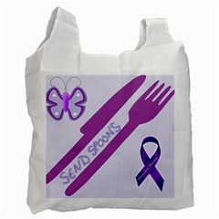 Send Spoons White Reusable Bag (two Sides) by FunWithFibro