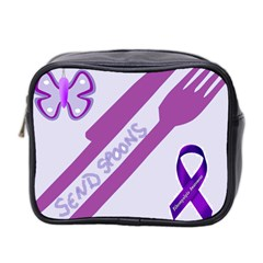 Send Spoons Mini Travel Toiletry Bag (two Sides) by FunWithFibro