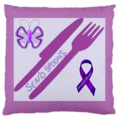 Send Spoons Large Cushion Case (single Sided)  by FunWithFibro