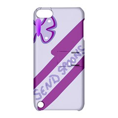 Send Spoons Apple Ipod Touch 5 Hardshell Case With Stand by FunWithFibro