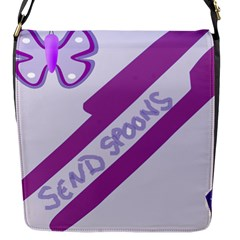 Send Spoons Flap Closure Messenger Bag (small) by FunWithFibro