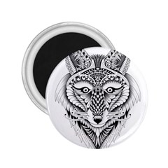 Ornate Foxy Wolf 2 25  Button Magnet by Zandiepants