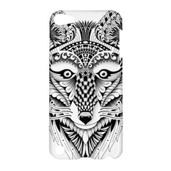 Ornate Foxy Wolf Apple Ipod Touch 5 Hardshell Case by Zandiepants