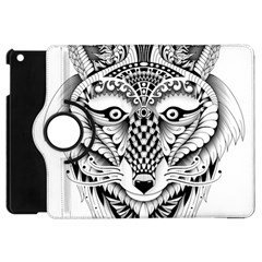 Ornate Foxy Wolf Apple Ipad Mini Flip 360 Case by Zandiepants