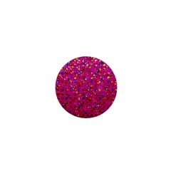 Polka Dot Sparkley Jewels 1 1  Mini Button Magnet by MedusArt
