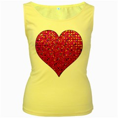 Polka Dot Sparkley Jewels 1 Women s Tank Top (yellow) by MedusArt