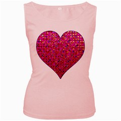 Polka Dot Sparkley Jewels 1 Women s Tank Top (pink) by MedusArt