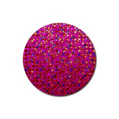Polka Dot Sparkley Jewels 1 Drink Coaster (round) by MedusArt
