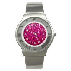 Polka Dot Sparkley Jewels 1 Stainless Steel Watch (slim) by MedusArt