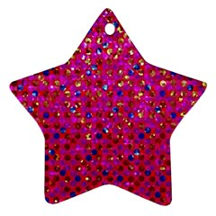 Polka Dot Sparkley Jewels 1 Star Ornament (two Sides) by MedusArt