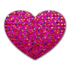 Polka Dot Sparkley Jewels 1 Mouse Pad (heart) by MedusArt