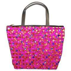 Polka Dot Sparkley Jewels 1 Bucket Handbag by MedusArt