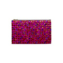 Polka Dot Sparkley Jewels 1 Cosmetic Bag (small) by MedusArt