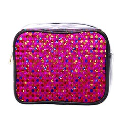Polka Dot Sparkley Jewels 1 Mini Travel Toiletry Bag (one Side) by MedusArt