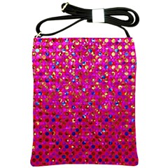 Polka Dot Sparkley Jewels 1 Shoulder Sling Bag