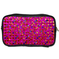 Polka Dot Sparkley Jewels 1 Travel Toiletry Bag (one Side) by MedusArt