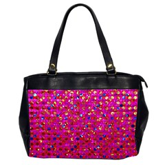 Polka Dot Sparkley Jewels 1 Oversize Office Handbag (two Sides) by MedusArt