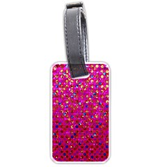 Polka Dot Sparkley Jewels 1 Luggage Tag (two Sides) by MedusArt