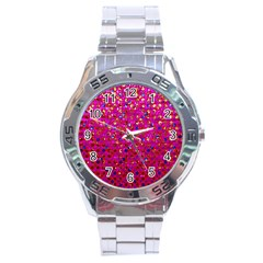 Polka Dot Sparkley Jewels 1 Stainless Steel Watch by MedusArt