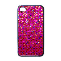 Polka Dot Sparkley Jewels 1 Apple Iphone 4 Case (black) by MedusArt