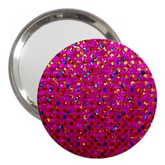 Polka Dot Sparkley Jewels 1 3  Handbag Mirror by MedusArt