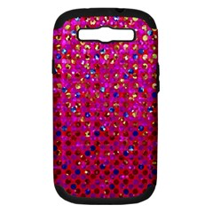 Polka Dot Sparkley Jewels 1 Samsung Galaxy S Iii Hardshell Case (pc+silicone) by MedusArt