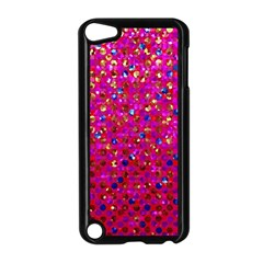 Polka Dot Sparkley Jewels 1 Apple Ipod Touch 5 Case (black) by MedusArt