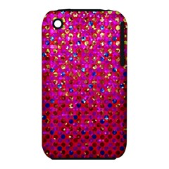 Polka Dot Sparkley Jewels 1 Apple Iphone 3g/3gs Hardshell Case (pc+silicone) by MedusArt