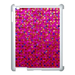 Polka Dot Sparkley Jewels 1 Apple Ipad 3/4 Case (white) by MedusArt