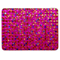 Polka Dot Sparkley Jewels 1 Samsung Galaxy Tab 7  P1000 Flip Case by MedusArt