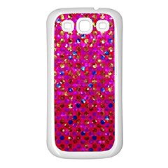 Polka Dot Sparkley Jewels 1 Samsung Galaxy S3 Back Case (white)