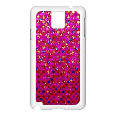 Polka Dot Sparkley Jewels 1 Samsung Galaxy Note 3 N9005 Case (white) by MedusArt