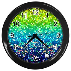 Glitter 4 Wall Clock (black) by MedusArt