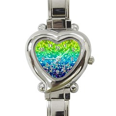 Glitter 4 Heart Italian Charm Watch  by MedusArt