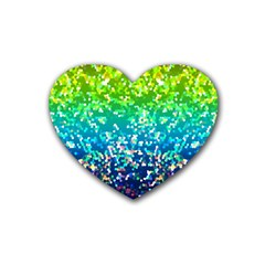 Glitter 4 Drink Coasters 4 Pack (heart)