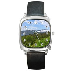 Newfoundland Square Leather Watch by DmitrysTravels