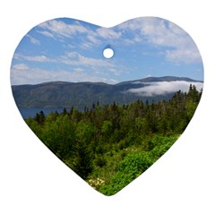 Newfoundland Heart Ornament (two Sides) by DmitrysTravels