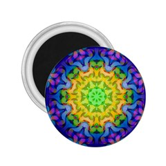 Psychedelic Abstract 2 25  Button Magnet