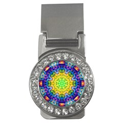 Psychedelic Abstract Money Clip (cz) by Colorfulplayground