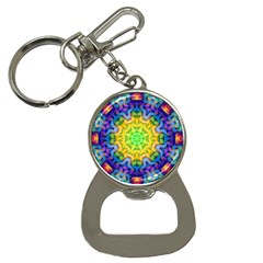 Psychedelic Abstract Bottle Opener Key Chain by Colorfulplayground