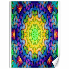 Psychedelic Abstract Canvas 36  X 48  (unframed) by Colorfulplayground