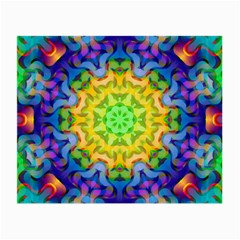 Psychedelic Abstract Glasses Cloth (small, Two Sided) by Colorfulplayground